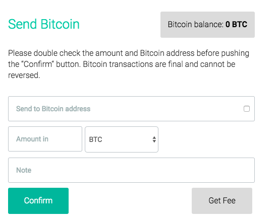 How can I send BTC from BitOasis wallet to an external BTC